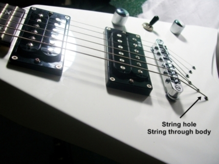Artrock Azis studio string through body