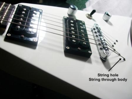 Artrock Azis studio string through body