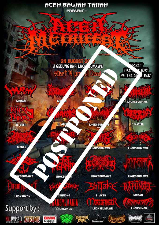 aCEH mETAL FEST POSTPONED