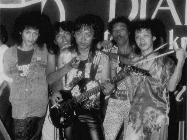 Powermetal with Pungky Deaz 1989 | Source: Facebook Powermetal