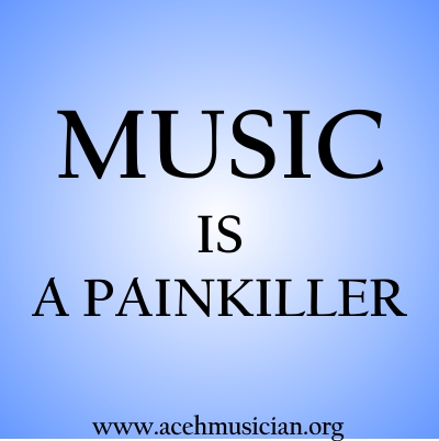 music is a painkiller