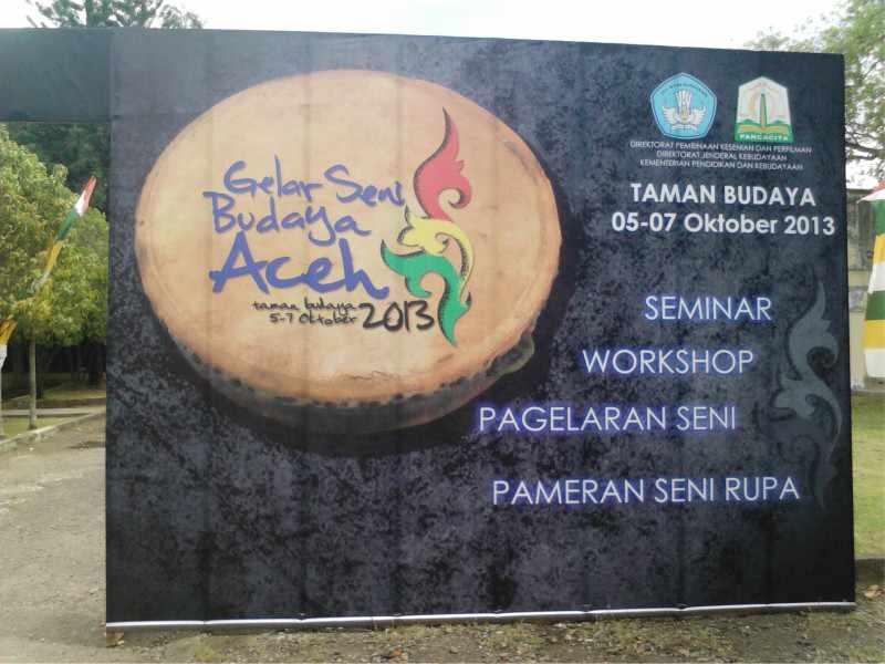 Gelar Seni Budaya Aceh Baliho