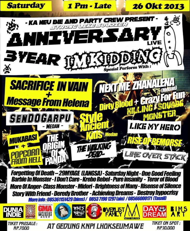 Im Kidding's 3rd Anniversary Concert