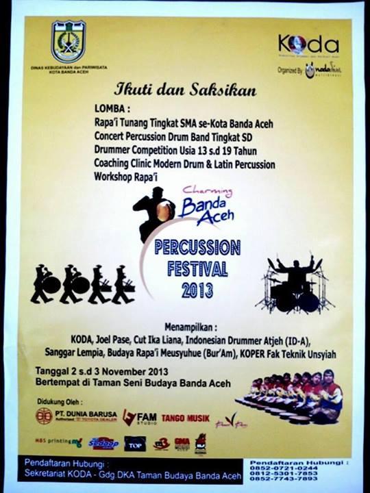 Banda Aceh Percussion Festival 2013