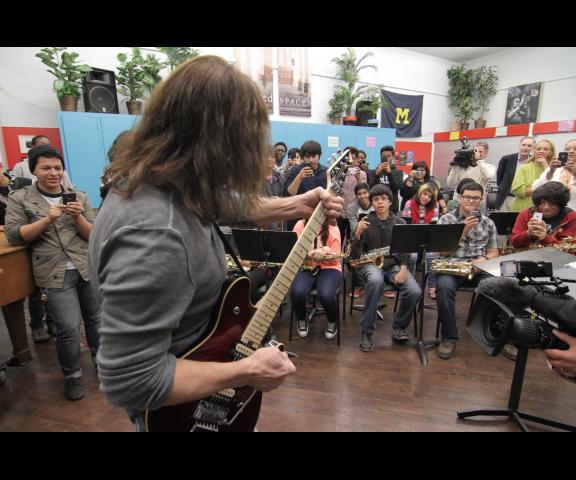 Eddie Van Halen di sekolah LA