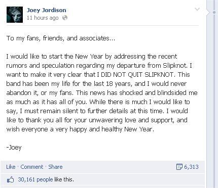jordison facebook