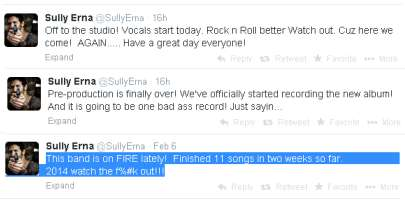 Sully Erna's tweets