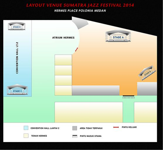 lay out venue Sumatra Jazz Fest 2014