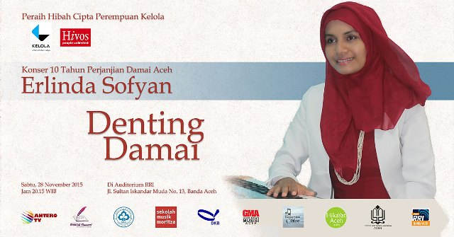 Erlinda Sofyan Poster Konser Denting Damai